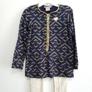 NWT Juicy Couture, Toddler Girl Outfit, Navy, 4T